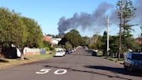 Black Smoke Rises From Sydney Factory Blaze