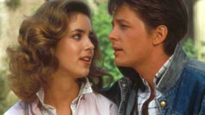 'Back to the Future' actress on kissing Fox
