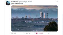 La verdad sobre la impresionante foto del 'skyline' de Madrid sin contaminación que no para de circular en redes sociales