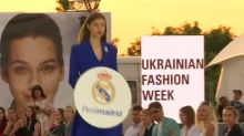 Models take on Madrid, Liverpool colors in Kiev