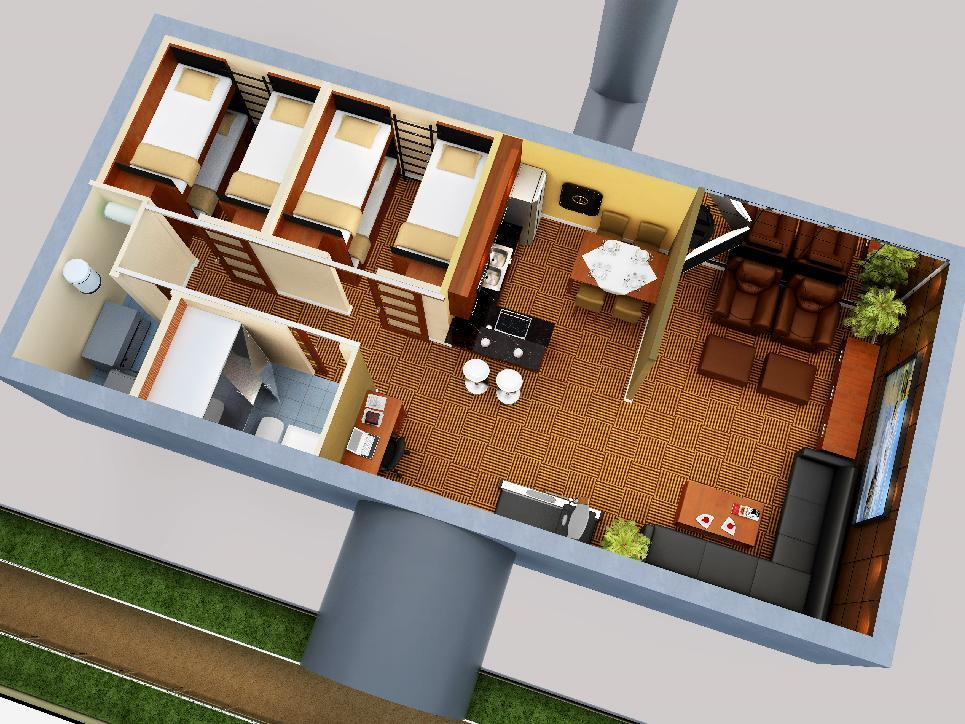"""This artist rendering released by Vivos, an underground shelter network, shows a design for an underground bunker. Spike TV will be airing a six-episode series called """"Last Family on Earth"""" a competition in which survivalists will compete for an underground bunker in an undisclosed location. The series will air in the fall. (AP Photo/Vivos via Spike TV)"""