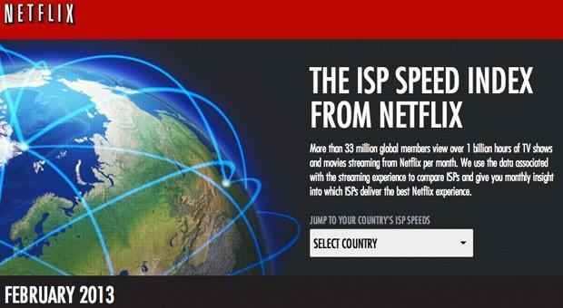 Netflix intros a dedicated ISP speed index page to highlight streaming champions