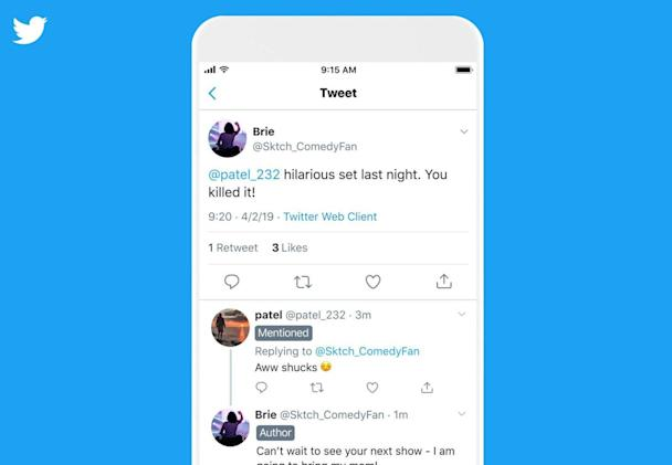 Twitter is testing new labels for conversation threads
