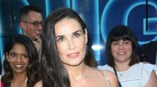 Demi Moore Wore the Perfect Rainbow Dress to Celebrate 'Rough Night'