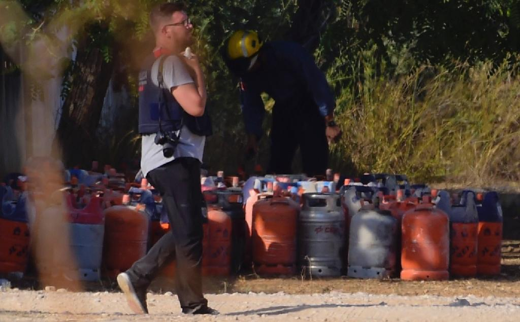 Spanish police say they have uncovered a cache of 120 gas canisters at a house believed to be the bomb-making factory of the cell behind two attacks on popular tourist areas (AFP Photo/JOSE JORDAN )