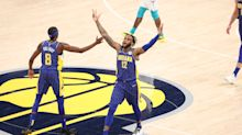 Pacers roll over Hornets with 27-point play-in win to keep postseason hopes alive
