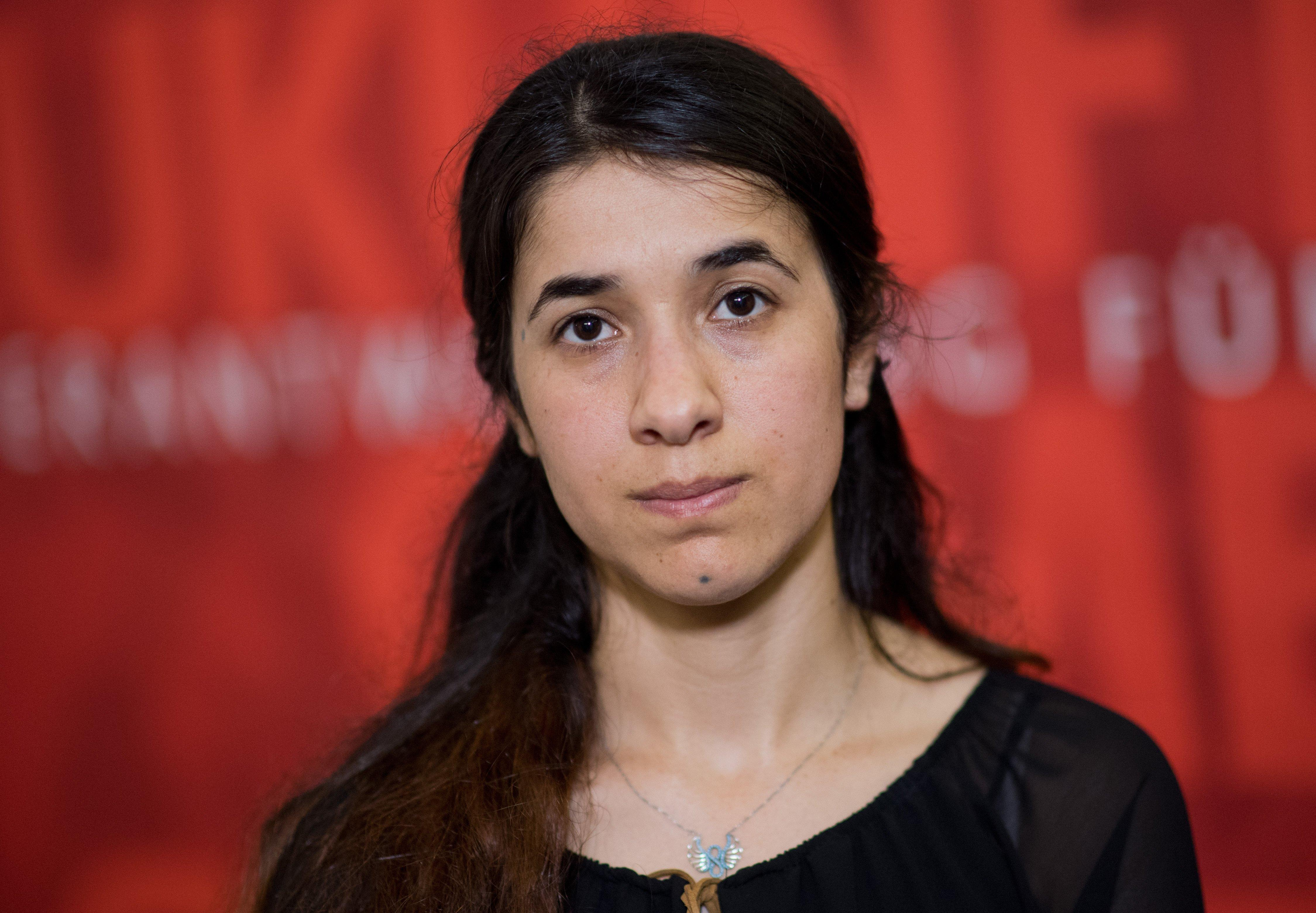 Survivors Nadia Murad left and Lamiya Aji Bashar escaped Isis enslavement to become advocates for Yazidis and were last month awarded the EUs