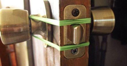 Wrap A Rubber Band Around All Door Locks Tonight