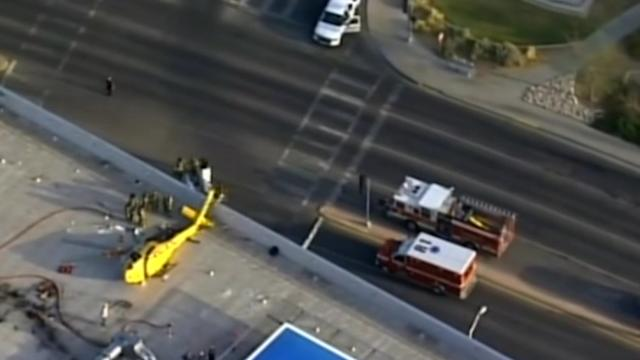 Helicopter crashes on New Mexico hospital roof, pilot injured