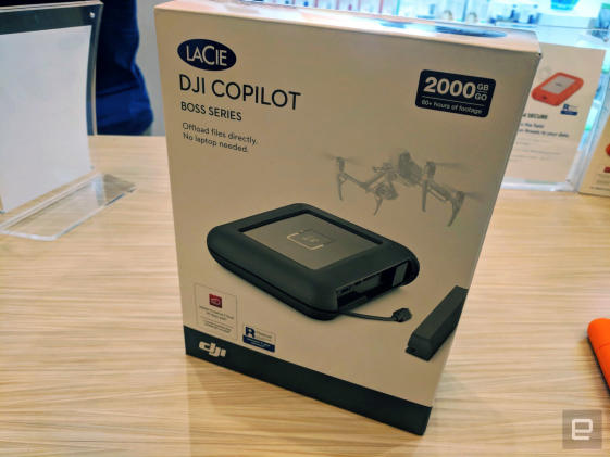 Lacie's DJI Copilot is the perfect portable hard drive for video pros