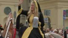 Traditional costumes delight at Oktoberfest parade