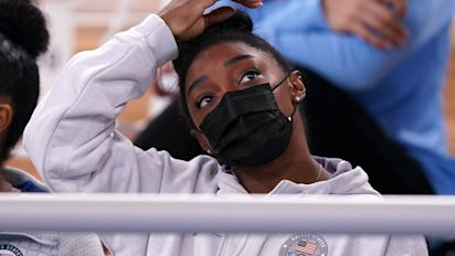 Simone Biles out on vault and uneven bars