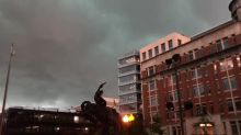 Skies Go Dark Over Washington as Storm Rolls Through