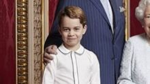 Prince George joins Queen Elizabeth and fellow heirs to the throne in rare new portrait
