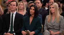 Kim Kardashian returns to the White House, wearing the ultimate power suit