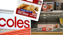 Coles customer 'very disappointed' to be refused free hot chicken