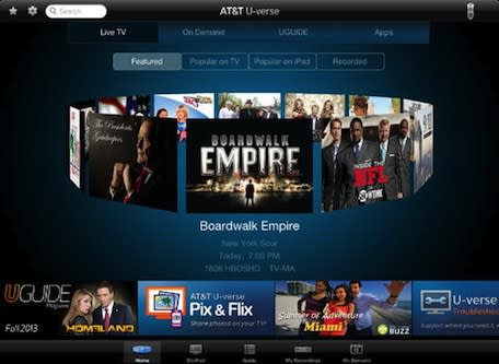 AT&T U-verse adds live TV streaming on iPad, iPhone to follow