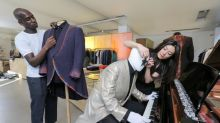 Elton John's bespoke outfits go on display in Savile Row tailor Richard James