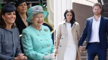 Queen and royal family go head-to-head with the Sussexes