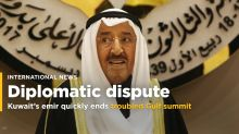 The Latest: Kuwait's emir quickly ends troubled Gulf summit