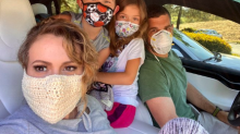 Alyssa Milano defends wearing a 'totally safe' crochet mask following backlash