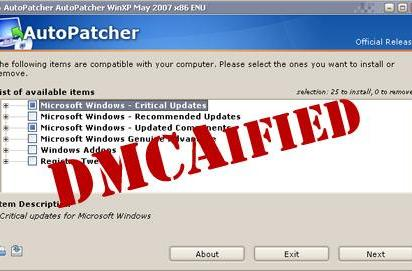 Microsoft lays down smack on AutoPatcher service, users not pleased
