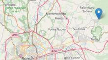 Scossa di terremoto a nord-est di Roma: magnitudo pari a 3.2