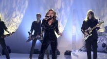 Shania Twain, 51, is too hot to handle in skintight sequin jumpsuit