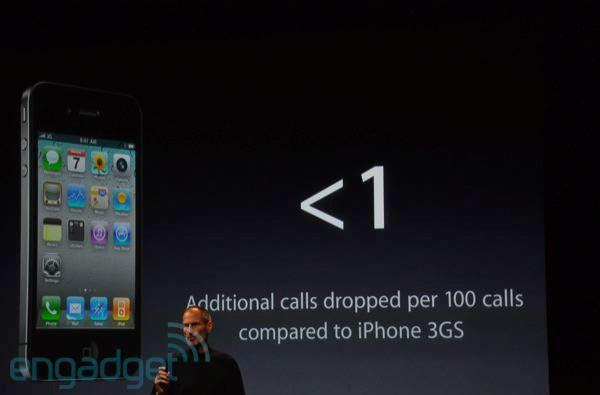 Apple: iPhone 4 drops 'less than one additional call per 100 than the 3GS'