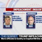 More officials set to testify in Trump impeachment inquiry