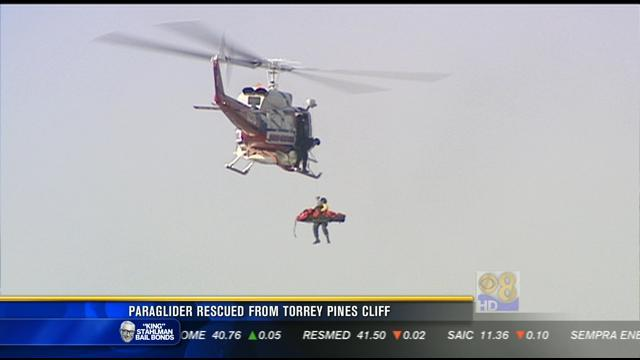 Paraglider rescued from Torrey Pines cliff