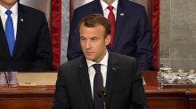 E. Macron s'exprime en anglais devant le congrès américain