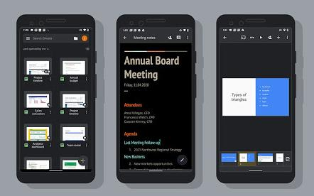 Google brings dark mode to Docs, Sheets and Slides on Android | Engadget