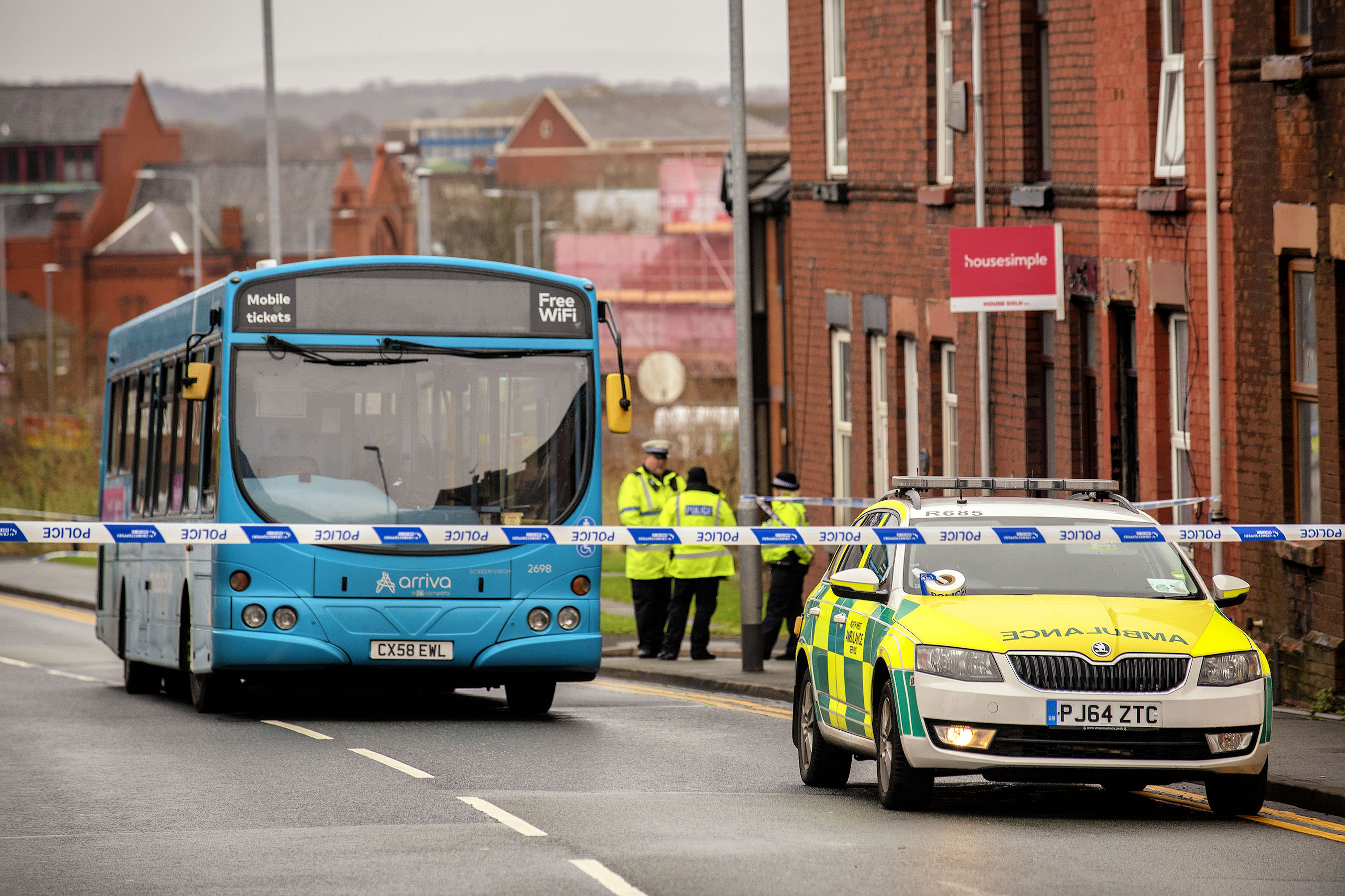 Woman dies after bus she is travelling on 'slams brakes' to avoid accident
