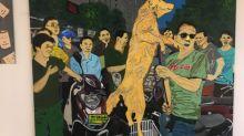 藝術家以畫展宣傳禁吃狗肉 兼舉行中、港、台三地動保交流