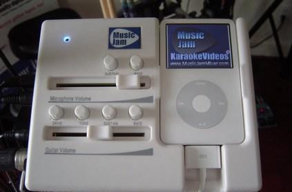 MusicJam unveils iPod Mixer / karaoke machine
