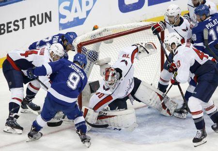 1d19ebef3b9 NHL  Stanley Cup Playoffs-Washington Capitals at Tampa Bay Lightning