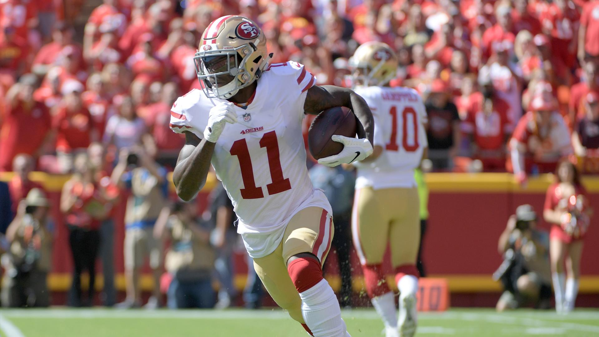 sports shoes 524df e00ac 40 Yards of Gold results: 49ers' Marquise Goodwin wins $1M ...