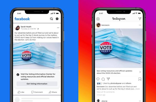 Facebook will link all 2020 US election posts to its voter hub