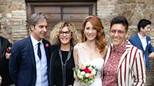 Milena Miconi e Mauro Graiani, le star invitate alle nozze