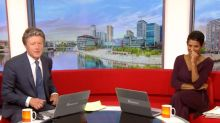 BBC Breakfast host struggles to keep straight face after innuendo