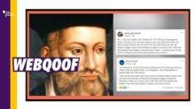 No, Nostradamus Did Not Predict The Spread of Novel Coronavirus