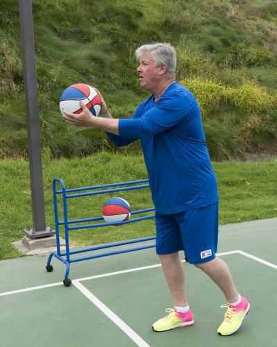 Larry Wilcox on ABC's Battle of the Network Stars. (Photo Credit: Byron Cohen/ABC)