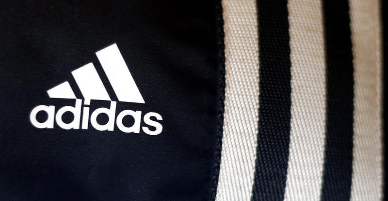 brand new cba6a 6b6ff The logo of Adidas is pictured in a store in Munich