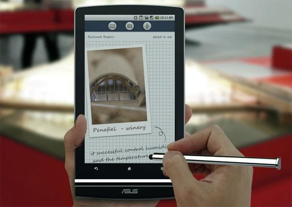 ASUS Eee Pad MeMO tablet takes a pen out of the Courier's book