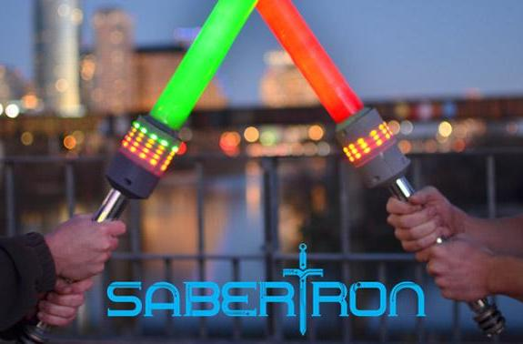 Sabertron: a foam lightsaber game that finally proves who's got the most midi-chlorians