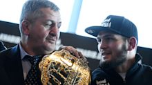 Khabib Nurmagomedov's father put in medically induced coma, manager says, while battling COVID-19