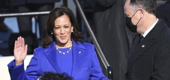 Harris swearing in represents the march of history