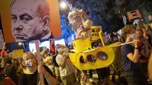 Israel's Netanyahu rails at media over protests against him