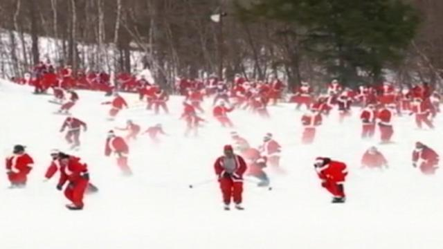 210 Santas Take to the Slopes